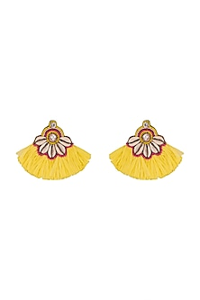 Crystal & Tassel Earrings by Bansri
