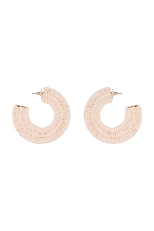 Gold Finish Big Statement Earrings by Bansri