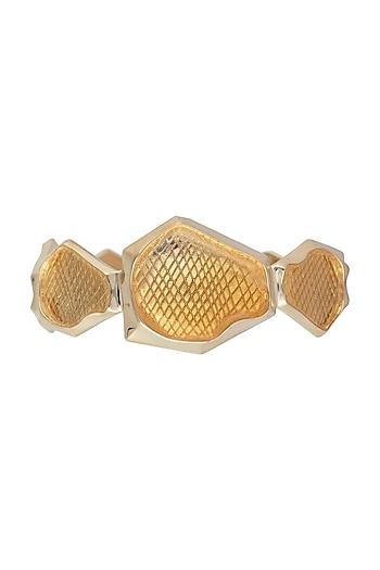 Gold plated statement cuff by Bansri