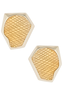 Gold plated stud earrings by Bansri