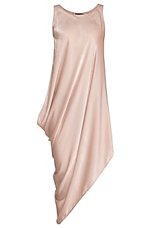Peach Cowl Dress by Born 2 Flaaunt