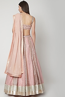Pastel Pink Embroidered Lehenga Set by Breathe By Aakanksha Singh