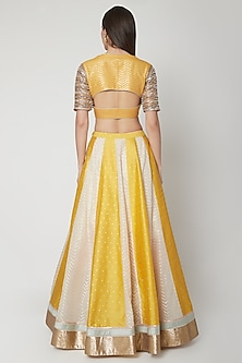 Yellow Embroidered Lehenga Set by Breathe By Aakanksha Singh