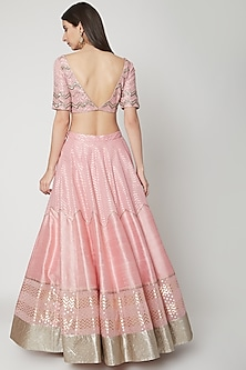 Light Pink Embroidered Lehenga Set by Breathe By Aakanksha Singh