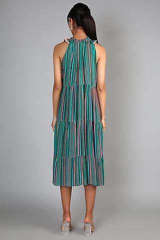Mint Green Embroidered Midi Dress by Babita Malkani