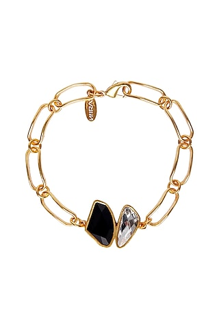 Gold Plated Swarovski Bracelet by Zariin