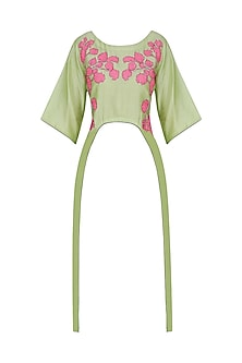 Green Floral Tunic by Breathe By Aakanksha Singh