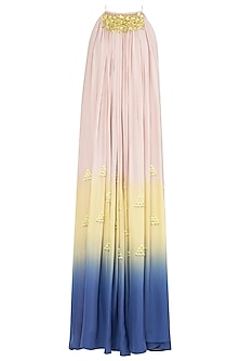 Multi-Colour Embroidered Maxi Dress by Babita Malkani