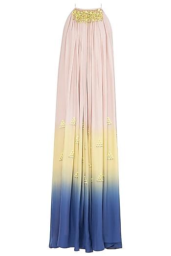 Multi-Colour Embroidered Maxi Dress by Babita Malkani