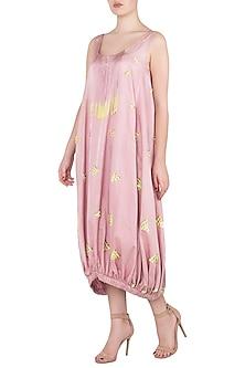 Pink Sequins Embellished Midi Dress by Babita Malkani
