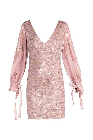 Ash Lavender Bodycon Dress by Babita Malkani