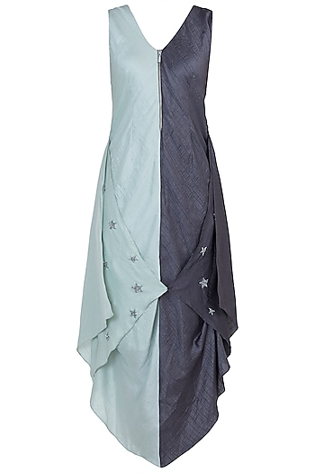 Mint Green Asymmetrical Dress by Babita Malkani