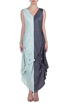 Mint Green Asymmetrical Dress by Babita Malkani