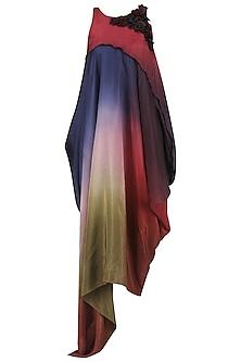 Multi Color Ombre Asymmetrical Dress by Babita Malkani