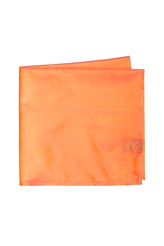 Orange Silk Pocket Square by Bubber Couture