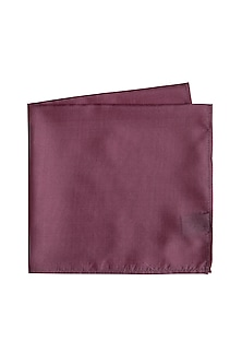 Mauve Silk Pocket Square by Bubber Couture