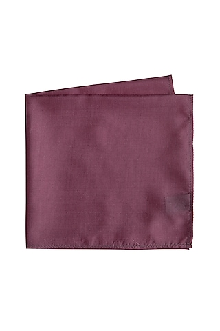 Mauve Silk Pocket Square by Bubber Couture