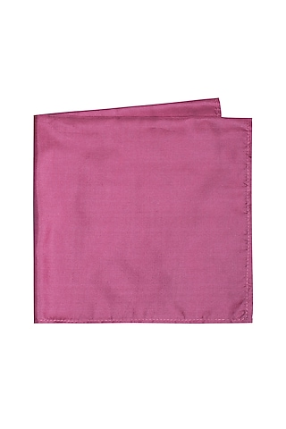Fuchsia Silk Pocket Square by Bubber Couture