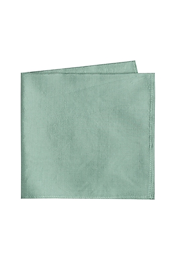 Sky Blue Silk Pocket Square by Bubber Couture