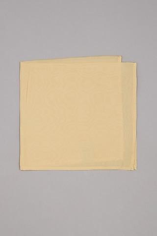 Cream Pure Silk Pocket Square by Bubber Couture