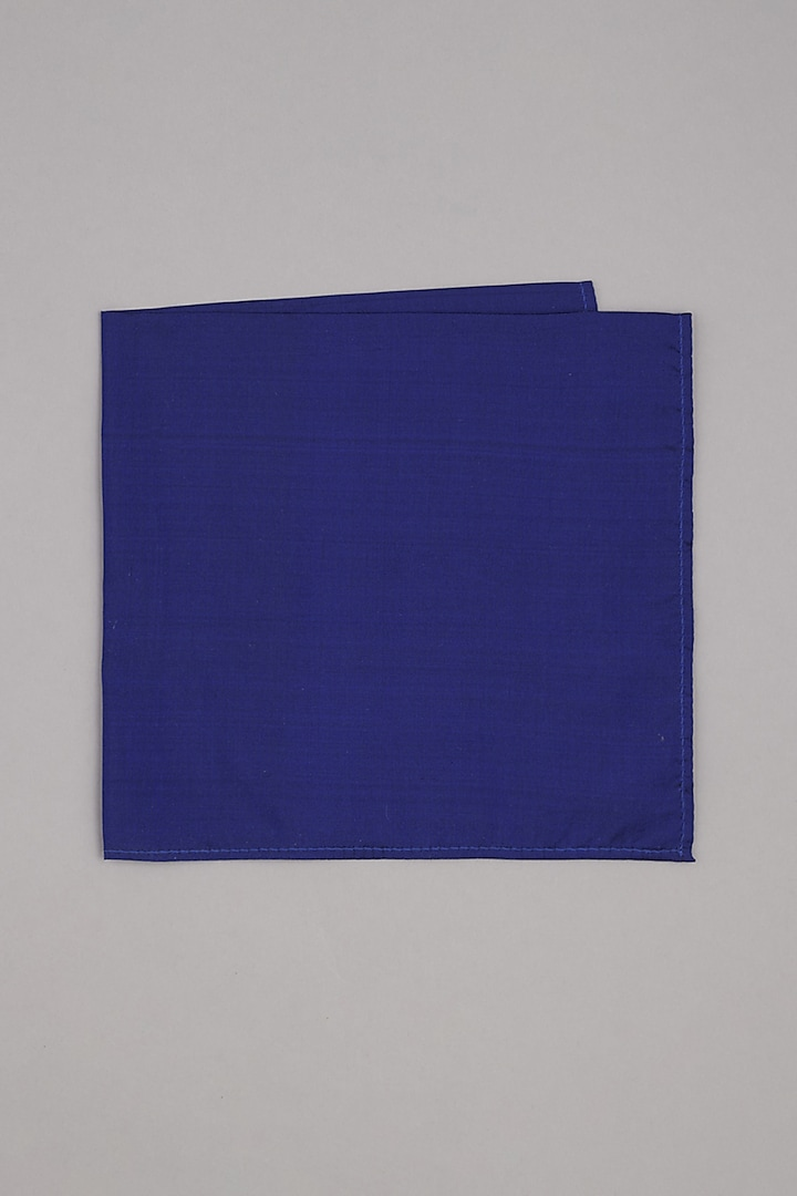 Royal Blue Pure Silk Pocket Square by Bubber Couture