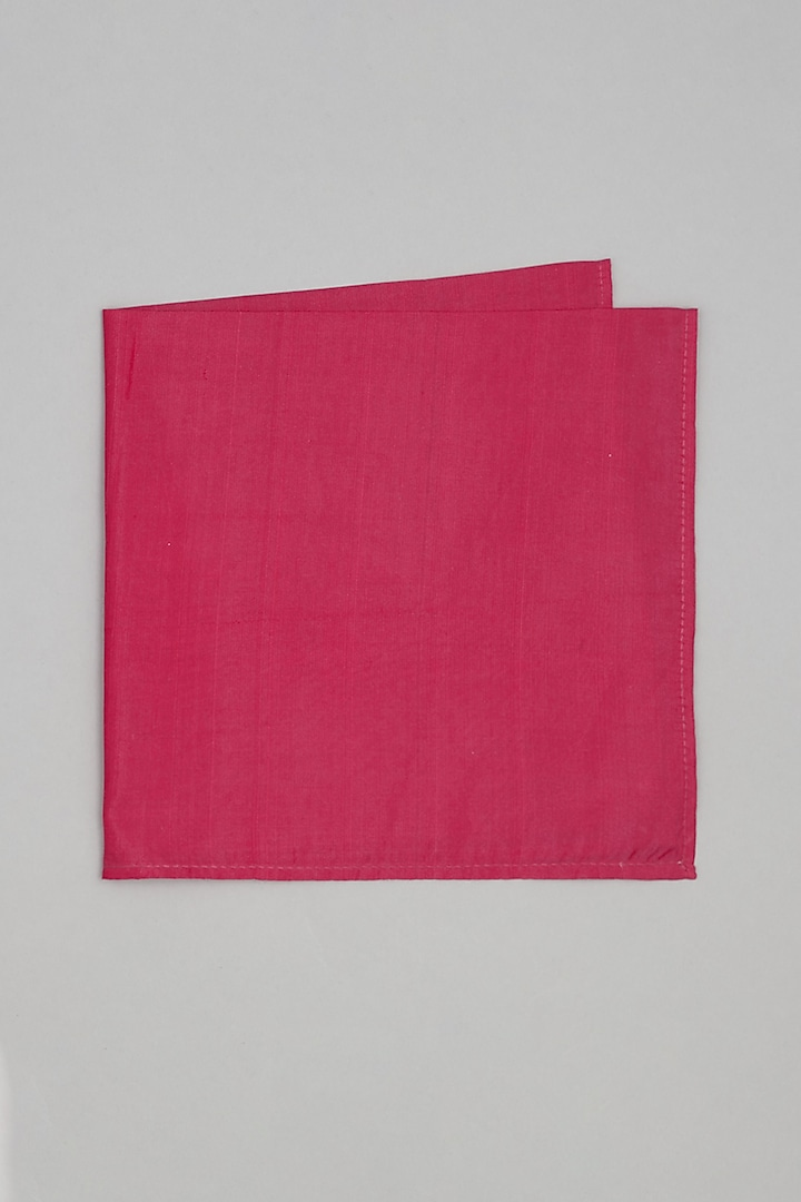 Hot Pink Pure Silk Pocket Square by Bubber Couture