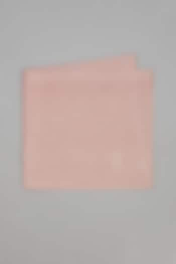 Baby Pink Pure Silk Pocket Square by Bubber Couture