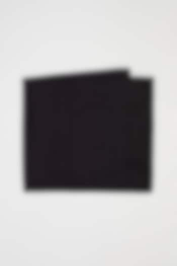 Black Pure Silk Pocket Square by Bubber Couture