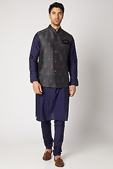 Charcoal Grey Reversible Bundi Jacket by Bubber Couture
