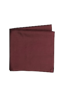 Wine Silk Pocket Square by Bubber Couture