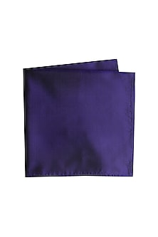Blue Silk Pocket Square by Bubber Couture