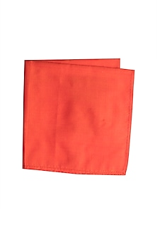 Red Silk Pocket Square by Bubber Couture