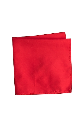 Red Assorted Silk Pocket Square by Bubber Couture