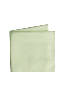 Mint Green Silk Pocket Square by Bubber Couture