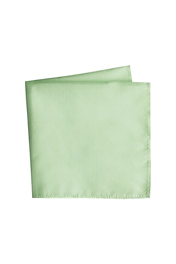Green Silk Pocket Square by Bubber Couture
