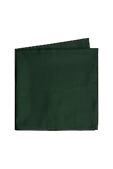 Royal Green Silk Pocket Square by Bubber Couture