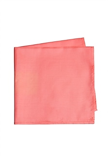 Peach Silk Pocket Square by Bubber Couture
