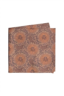 Nude Printed Pocket Square by Bubber Couture