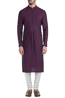 Wine textured kurta set by BUBBER COUTURE