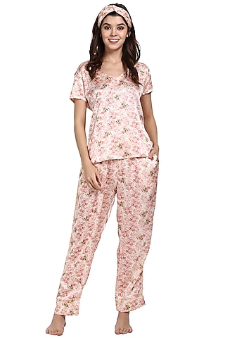 Vintage Blossom Printed Night Suit by CatNap