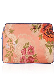 Coral Hand Woven Floral Pattern Ipad Sleeve by RASEEL AT CASAPOP