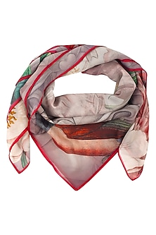 Pink and Red Return To Paradise Scarf by RASEEL AT CASAPOP