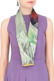 Multicolor Return To Paradise Scarf by RASEEL AT CASAPOP