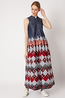 Multi Colored Embroidered Dress by Chambray & Co.