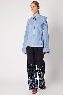Navy Blue Ombre Paper Bag Pants by Chambray & Co.