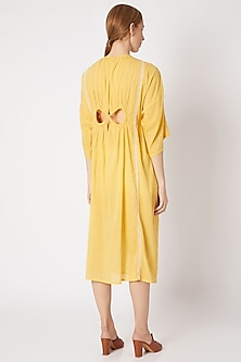 Canary Yellow Pleated Dress by Chambray & Co.