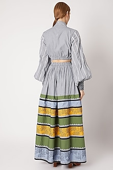 Multi Colored Embroidered Tiered Skirt by Chambray & Co.