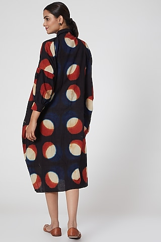 Black printed Shirt Dress by Chambray & Co.