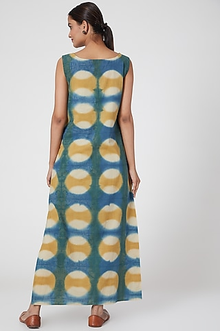 Turquoise Green Printed Dress by Chambray & Co.