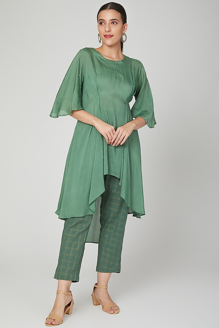 Emerald Green Top With Pants by Chambray & Co.